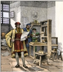 gutenberg-and-fust-with-the-first-printing-press-germany-1450s